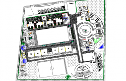 Architect design college layout plan detail dwg file