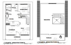 Architect house plan autocad file