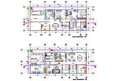 Architect house plan detail layout file