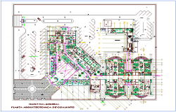 Architect plan view of hospital design dwg file