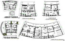 Architect planning building detail dwg file