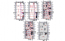 Architect planning commercial building plan autocad file