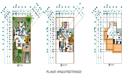 Architect rustics house plan detail dwg file