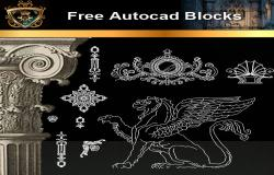 Architectural Decoration Elements CAD Blocks 1