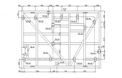 Architectural Plan of water utility system in dwg file