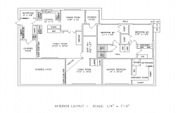 Architectural Residential housing building detail plan 2d view layout file