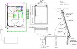 Architectural Roof Section DWG File