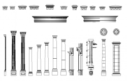 Architectural and pillar details