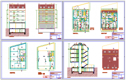Architectural based Housing design drawing in height