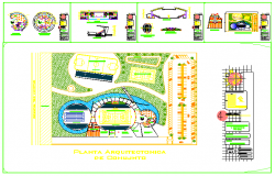 Architectural based Sport center design drawing