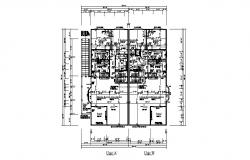 Architectural design of residential apartment 54'0'' x 52'0'' with detail dimension in dwg file