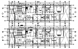 Architectural design of the house with detail dimension in dwg file