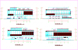 Architectural detail of building dwg file