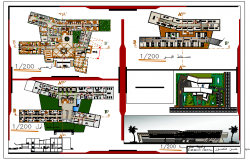 Architectural drawing of Emergency Hospital design drawing