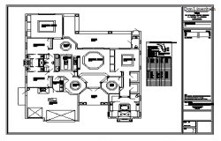 Architectural floor layout of house design drawing