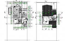 Architectural house plan autocad file
