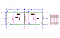 Architectural improvement plan dwg file