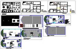 Architectural layout of House design drawing
