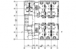 Architectural layout plan of a  hotel dwg file