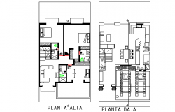 Architectural layout plan of house