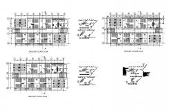 Architectural plan of 5 storey school building 32.24mtr x 16.08mtr with detail in dwg file