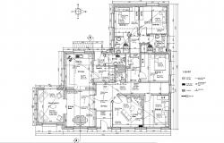 Architectural plan of House with furniture detail in dwg file