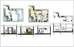 Architectural plan of a house dwg file