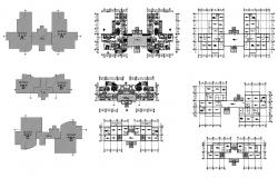 Architectural plan of a residential apartment in dwg file