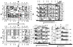 Architectural plan of apartment with detail dimension in dwg file