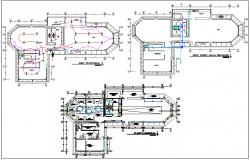 Architectural plan of collage with electrical and sanitary plan dwg file