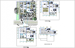 Architectural plan of first to sixth floor for regional area dwg file