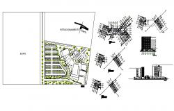 Architectural plan of five-star hotel building 21.90mtr x 30.00mtr with section and elevation in AutoCAD