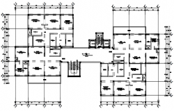 Architectural plan of flat with detail dimension in dwg file