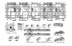 Architectural plan of house 10.00mtr x 14.00mtr with detail dimension in dwg file