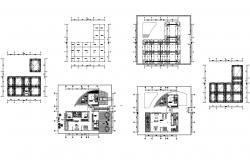 Architectural plan of house 16.89mtr x 17.33mtr with detail dimension in AutoCAD