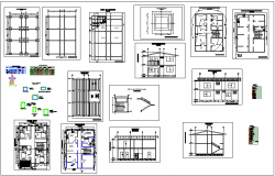 Architectural plan of house with  door and window,electrical and sanitary view dwg file