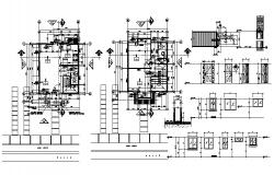Architectural plan of residential house 5.10mtr x 6.35mtr with primary and secondary level in dwg file