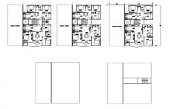 Architectural plan of residential house with furniture detail in autocad