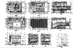 Architectural plan of restaurant 23.40mtr x 10.36mtr with detail dimension in AutoCAD