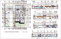 Architectural plan of rural clinic dwg file