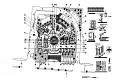 Architectural plan of the hospital with detail dimension in dwg file