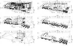 Architectural plan of the hotel with detail dimension in dwg file