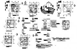 Architectural plan of the house in dwg file