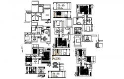 Architectural plan of the residential house with detail dimension in AutoCAD