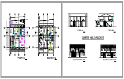 Architectural residential housing design drawing