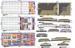 Architectural section details of Shopping mall