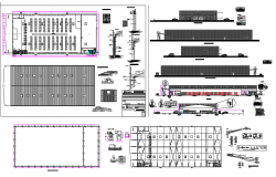 Architectural view of Super Market dwg file