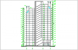 Architectural view of apartment dwg file