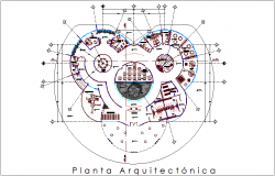 Architectural view of clinic plan dwg file