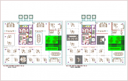 Architectural view of fifth and sixth floor plan for bank dwg file